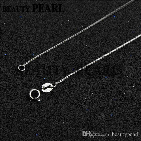Sterling Silver DIY Jewelry Necklace Collar 0.8mm 925 Sterling Silver Box Chain Wholesale