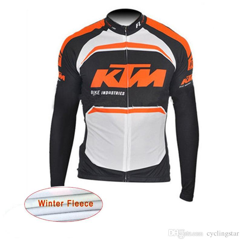 2017 KTM Tour De France Cycling Jersey Men Pro Team Winter Thermal Fleece  Long Sleeve Jacket Maillot Ciclismo Quick Dry Bike Clothing C0133 Long  Sleeve T ... 8c466ef9b