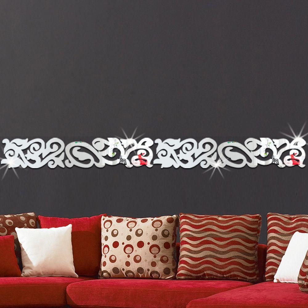 Großhandel Silber / Goldene Grenze Wandspiegel Acryl Gespiegelt ...