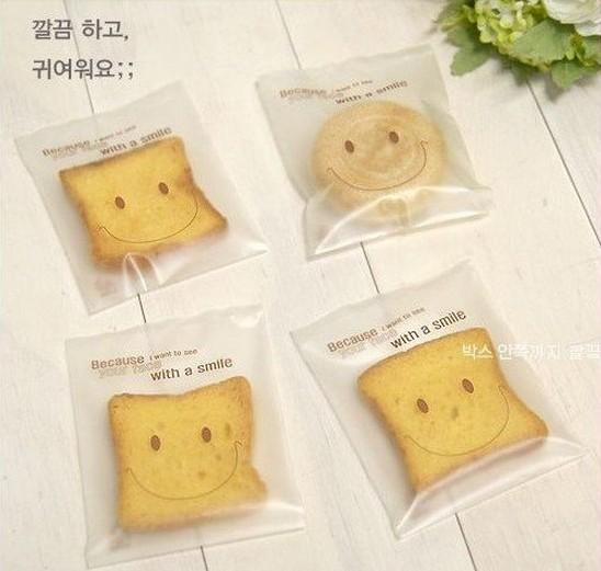Dull Polish sself adhesive plastic cookie muffin cake bread bags for gift food gift bakery packaging for wedding party supplies