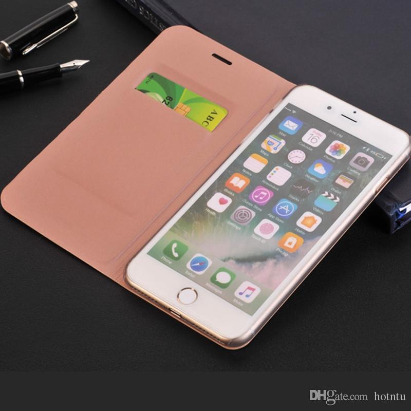 5f7b0259c12 Personalizar Fundas Movil Para El IPhone 7 7Plus Estuche Con La Ranura Para  Tarjeta De Lujo De La Cubierta De La Carpeta De La Contraportada Cajas Del  ...