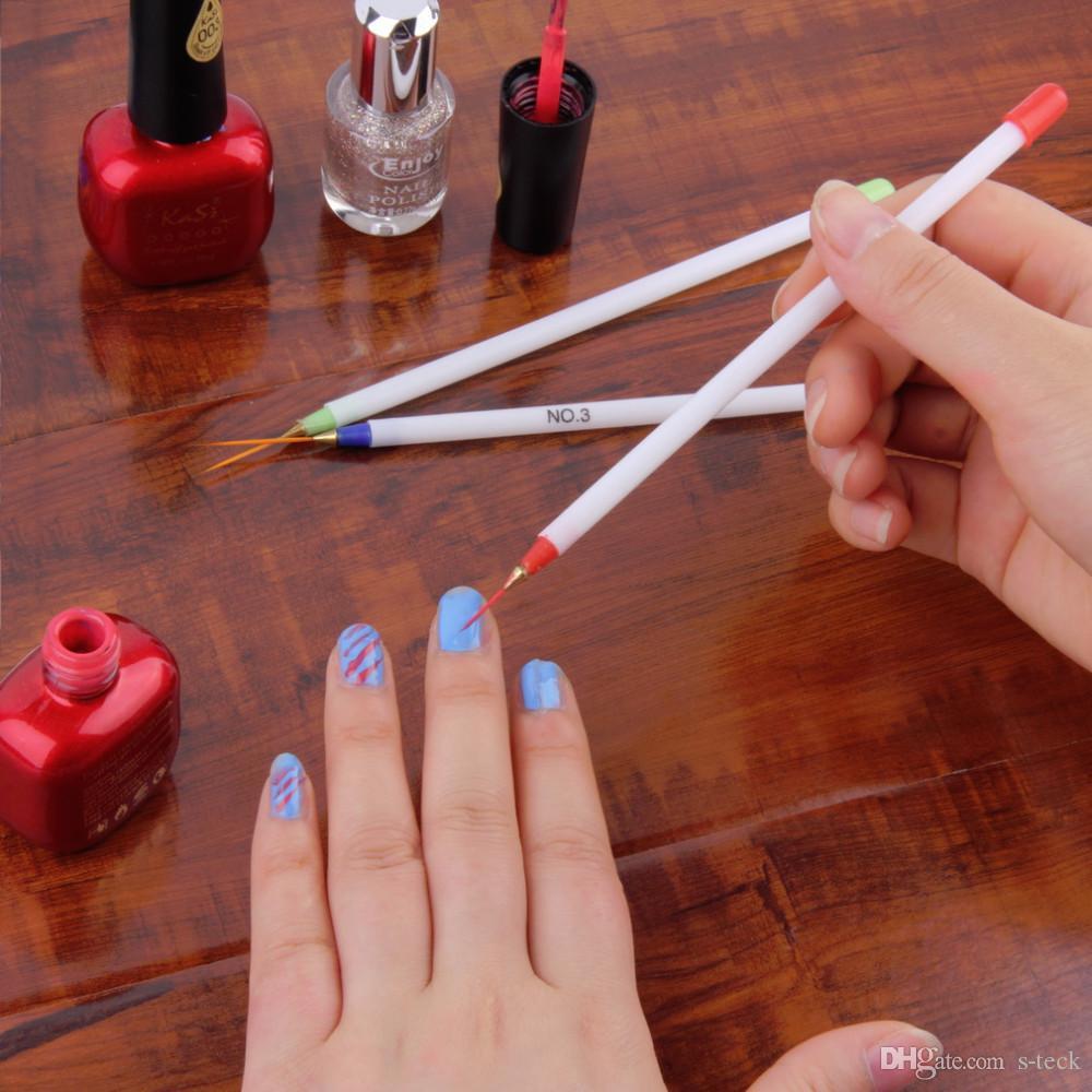 Großhandel 3 Stücke Nail Art Design Diy Zeichnung Malerei Striping ...