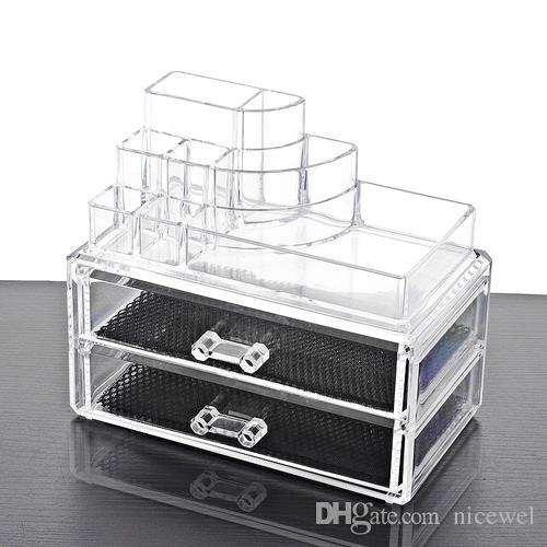 2018 New Acrylic Makeup Organizer Cosmetic Storage Box Storage Drawers  Makeup Case Storage Insert Holder Box Stand Box From Nicewel, $25.12 |  Dhgate.Com