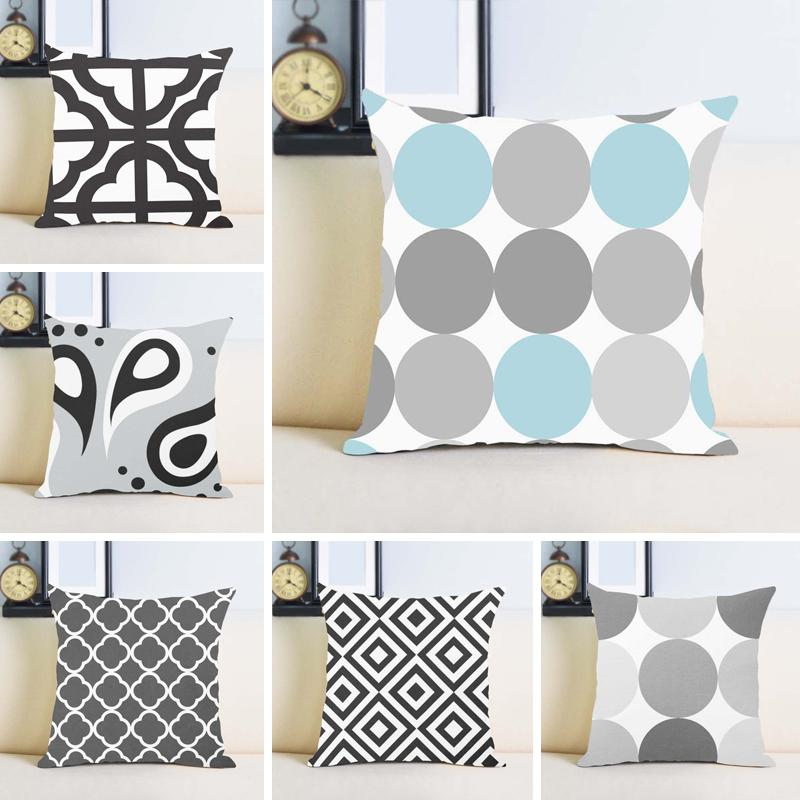 Wholesale Gray And Light Blue Turquoise 404040404040404040 Awesome 24 Inch Pillow Cover