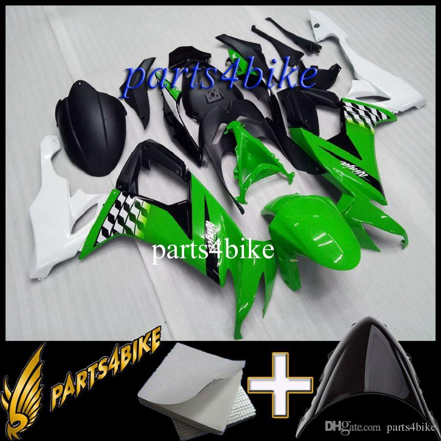 Aftermarket Plastic Fairing for Kawasaki ZX10R 08 10 ZX-10R 2008-2010 08 09 10 green black Motorcycle Body Kit