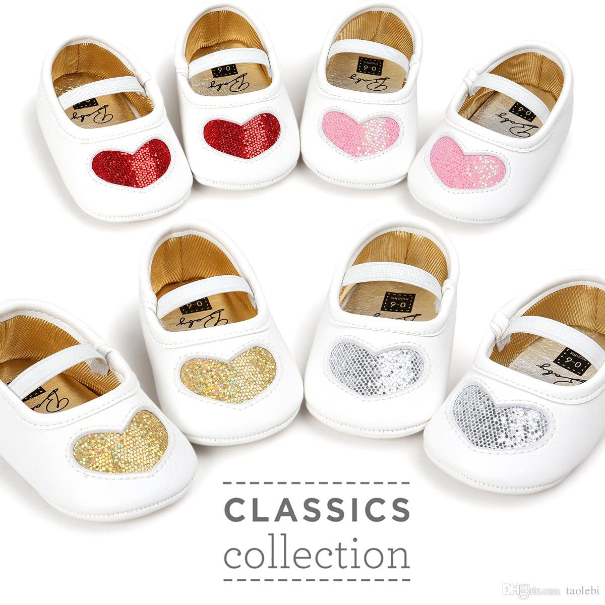 b7d254bdb29ae 2019 Retail New Style Baby Girl Prewalkers Sweet Heart Design Baby Girl  Shoes Princess Shoes For Choose From Taolebi