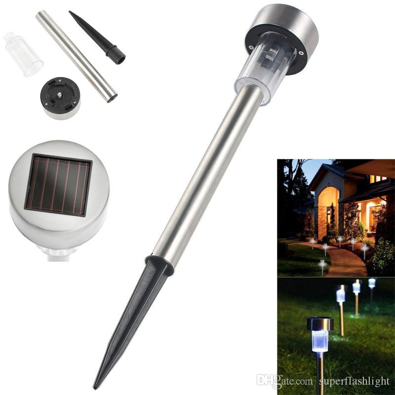 Solar LED Path Light Outdoor Garden Lawn Landscape Stainless Steel Spot Lamp White Light Color LEG_20V