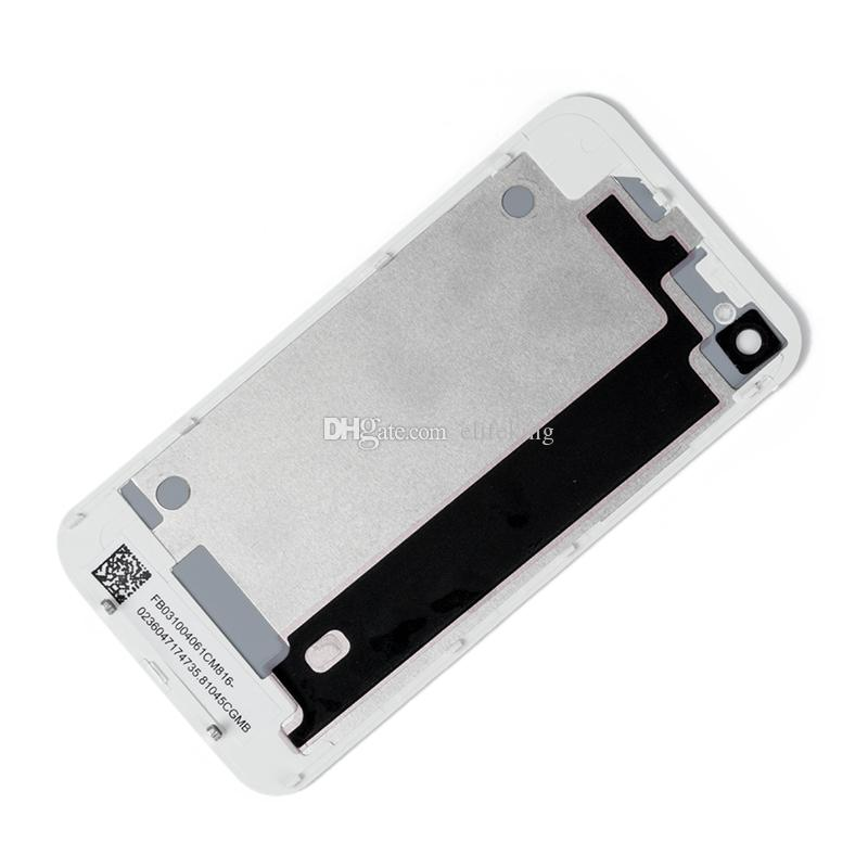 Retour Batterie Logement Porte Couverture Arrière Pour iPhone 4 4S Pièce de Remplacement + Flash Diffuseur CDMA Noir Blanc + Livraison Gratuite