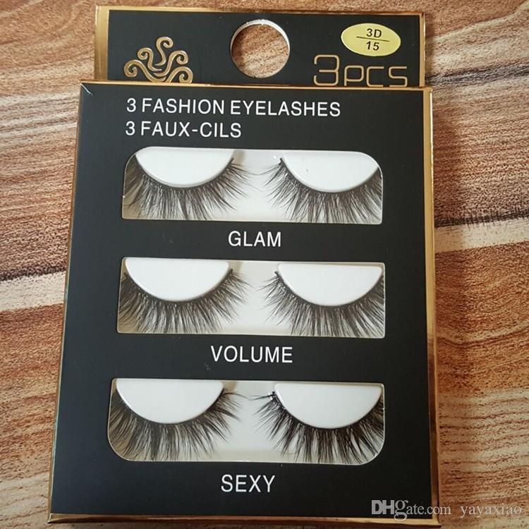 Sexy 100% Handmade 3D mink hair Beauty Thick Long False Mink Eyelashes Fake Eye Lashes Eyelash High Quality