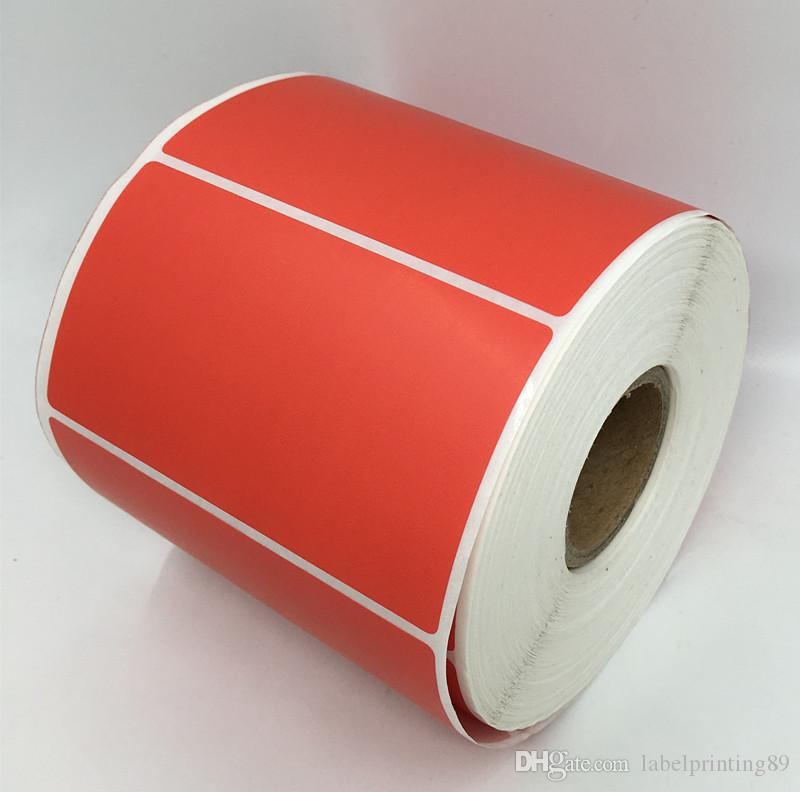 90*50mm /roll blank package sticker rectangle red item barcode sticker office stationery classify self adhesive sticker