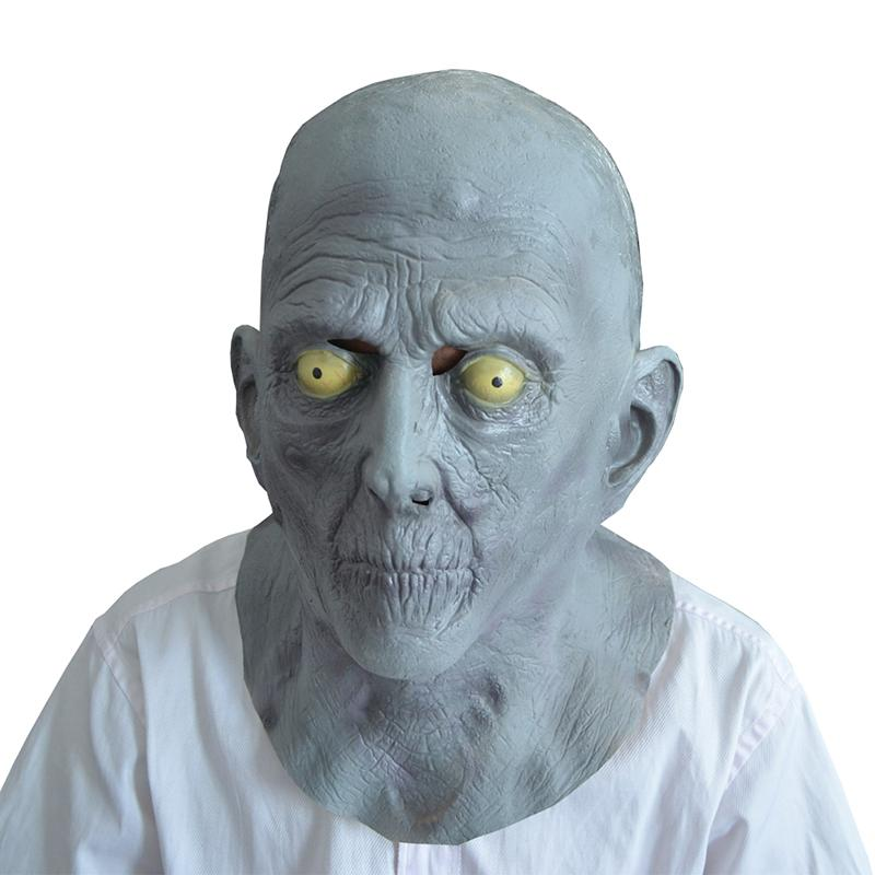 wholesale halloween terror party mask adult old man elderly bald latex mask fancy dress masquerade masks masquerade masks and costumes from hogane