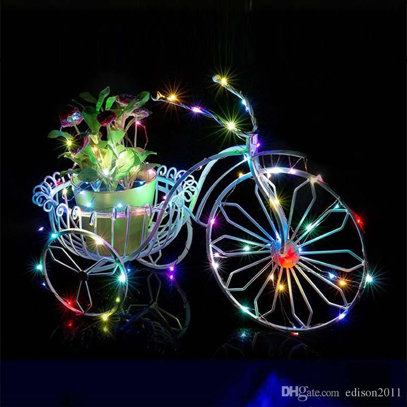 Edison2011 2/3/4/5/10M Battery Power Operated LED Copper Wire Fairy Lights String Xmas Home Party Decoration Seed Lamp Waterproof