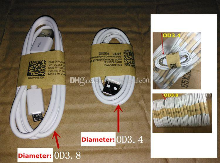 OD3.4 OD3.8 mm 1m Micro USB Kabel 2.0 Datensynchronisation Ladekabel Android Für Samsung Galaxy s3 Hinweis LG HTC