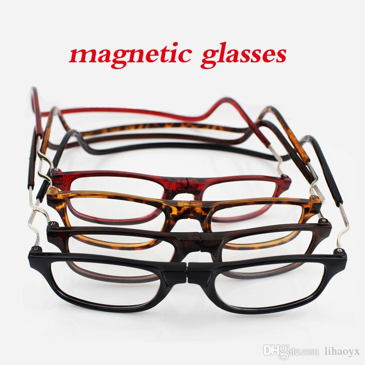 606ee74edf New Fashion Folding Magnetic Reading Glasses Men And Women High Resolution Glasses  Men And Women Ordinary Glasses +1.0 +1.5 +2.0 +2.5 +3 +3.