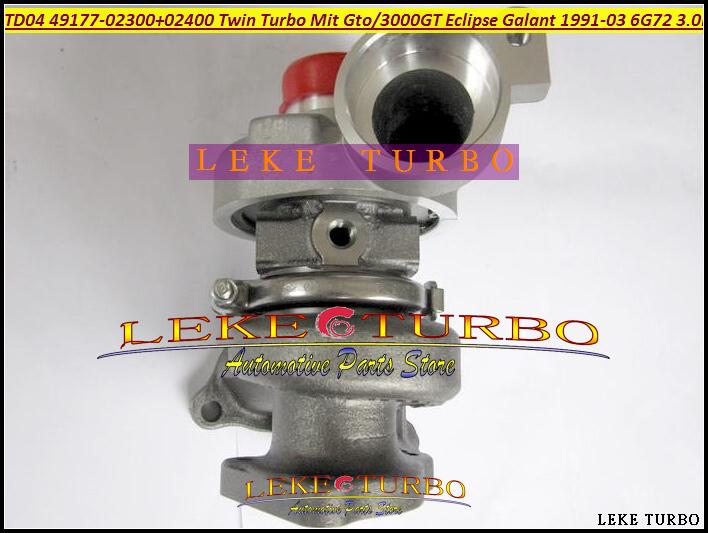 TD04 49177-02300 49177-02400 49177-02310 49177-02410 Twin Turbo Turbocharger For MITSUBISHI GTO 3000GT Eclipse Galant 1991-03 6G72 3.0L 235HP (2)