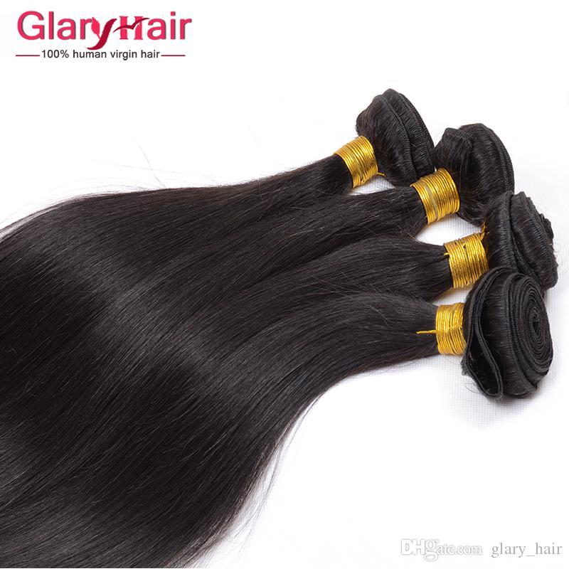 La longitud mezclada india de la trama del pelo de la Virgen del precio al por mayor 8-30 avanza lentamente paquetes rectos del pelo humano indio sin procesar 8a grado paquete sin procesar de la armadura del pelo