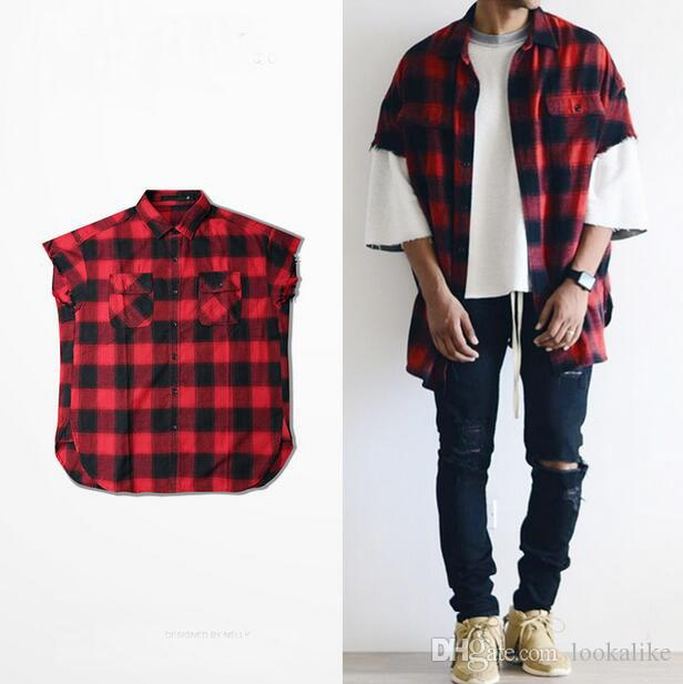 High Quality Red Plaid Shirt Womens Button Up Front Shirt Mens ...