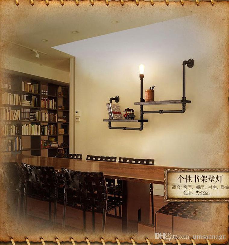 Vintage RH LOFT Plafoniera Plafoniera Apparecchio Retrò Industriale Caffetteria Bar Pub Lampade da parete Sala da pranzo Ristorante Scaffale luminoso