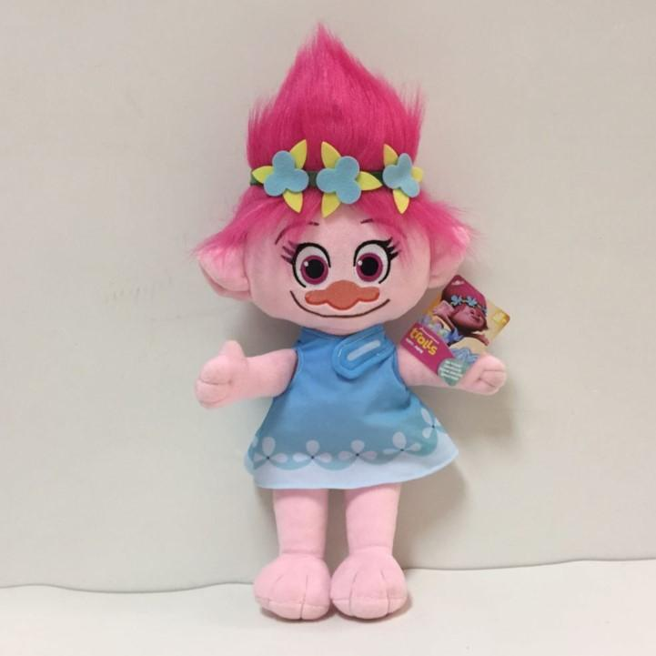 23CM Trolls Plush Toy Poppy Branch Dream Works Stuffed Cartoon Dolls The Good Luck Christmas Gifts Magic Fairy Hair Wizard