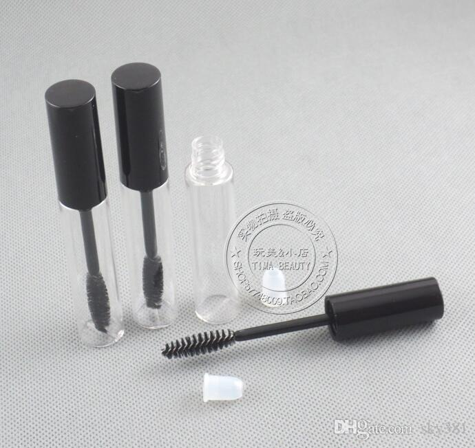 Tube transparent de mascara de promotion 24 / 10ml avec le dessus argenté, le tube cosmétique 10CC, le tube liquide de croissance de cil