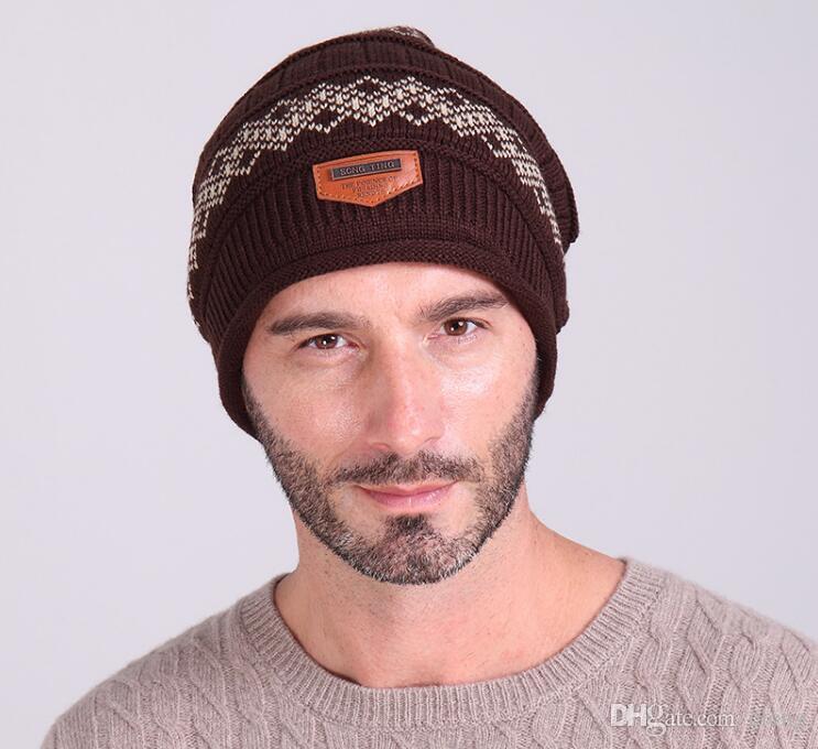 2019 New Beanies Knitted Hat Men's Winter Hats For Men Women Caps Skullies Winter Beaine Bonnet Brand Mask Casual Cap Warm Baggy Hat cc810