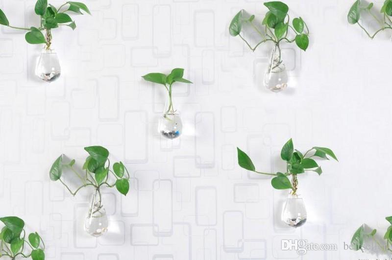 맑은 등반 벽 유리 꽃 꽃병 물방울 모양 공기 식물 terrarium 녹색 식물 크리스마스에 꽃병을 매달려 장식품 홈 인테리어