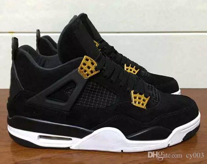 2893107e8f3a14 Compre Nuevo Retro 4 Royalty Suede Black Gold Hombre Zapatillas De  Baloncesto 4s Royalty Black Suede Sports Sneakers High Quality A  54.28 Del  Cy003 ...