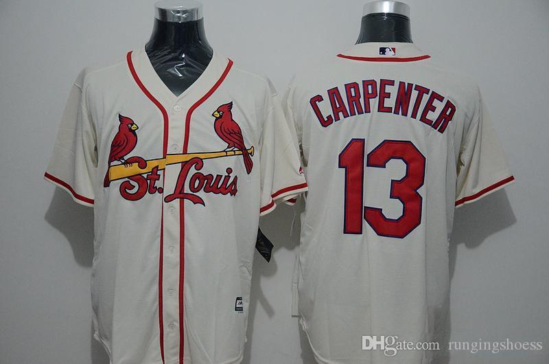 newest 39c4a f71f8 st. louis cardinals 13 matt carpenter cream jersey
