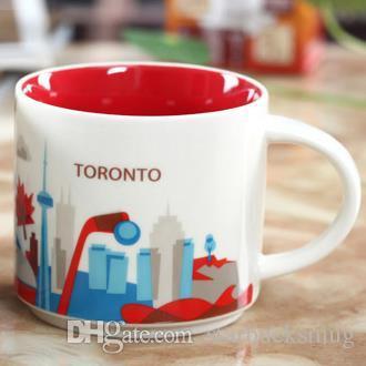 14 oz kapasite seramik toronto şehir starbucks şehir kupa Amerikan şehirleri en iyi kahve kupa