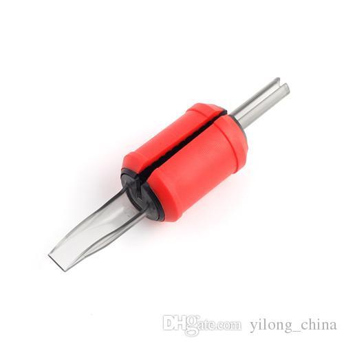 35F 30MM Tubes Jetables Rouge Souple En Silicone Tattoo Grip Tubes En Plastique Transparent Précis Combo Pour La Livraison Gratuite