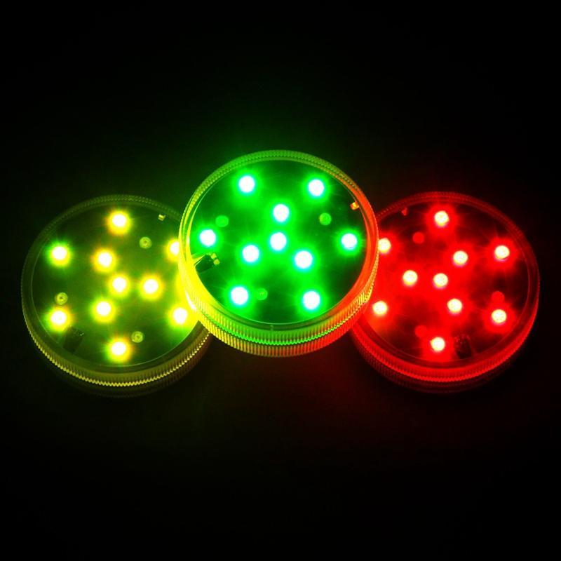 Umlight1688 أضواء LED غاطسة مع بطارية تعمل بالطاقة عن بعد Qoolife RGB متعدد الألوان تغيير الضوء للماء لقاعدة إناء ، الزهور ،