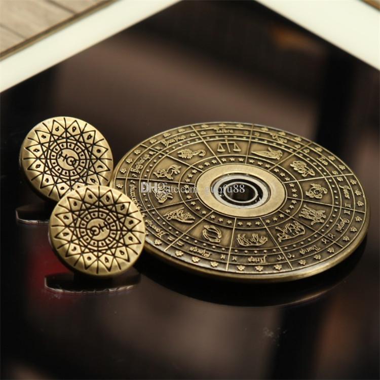 Новые египетский Зодиак НЛО рука Spinner сплава цинка летающая тарелка непоседа Spinner EDC игрушки декомпрессии палец гироскопа игрушки с CE сертификат