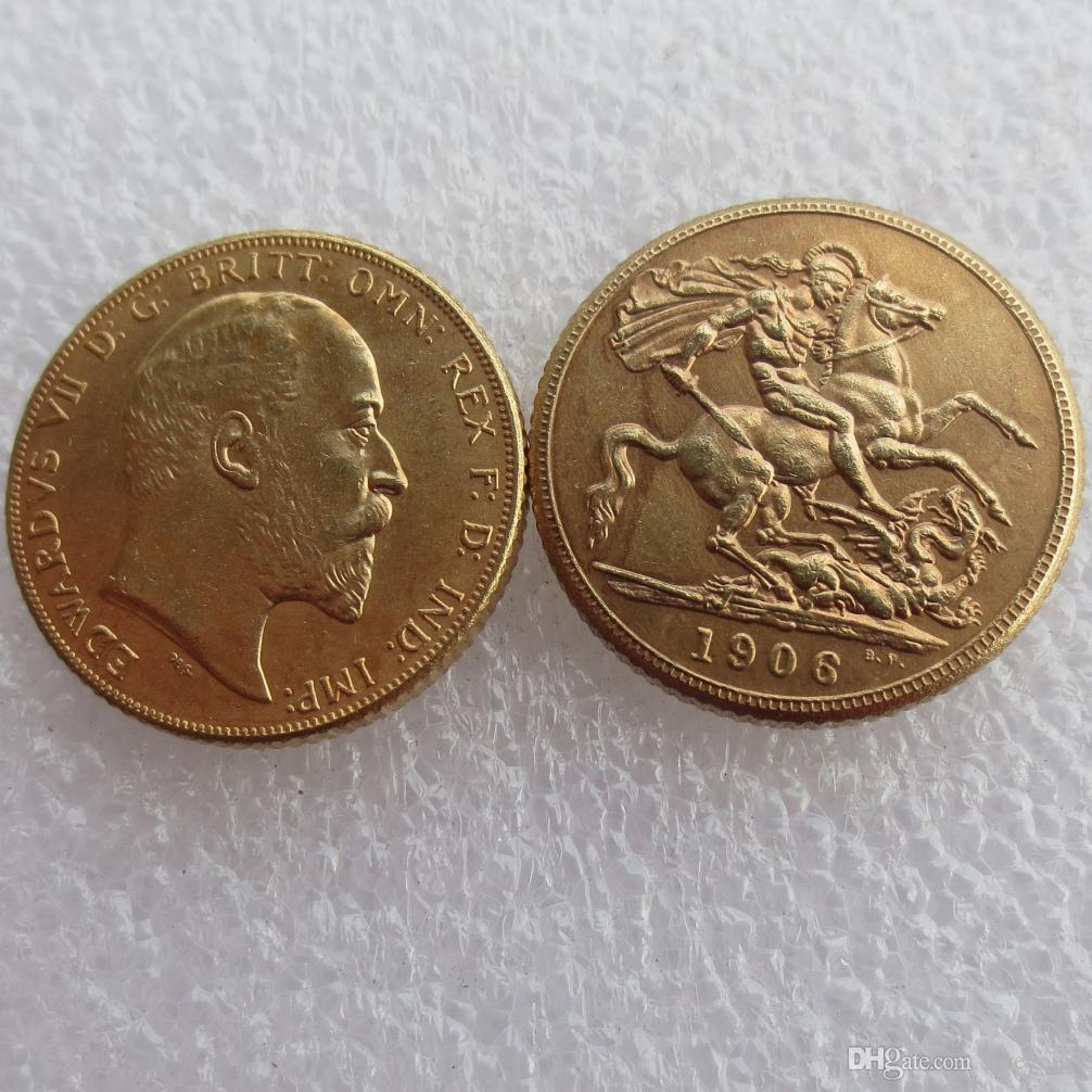 RARE 1906 KING EDWARD VII MATT PROOF GOLD DOUBLE SOVEREIGN Free shipping