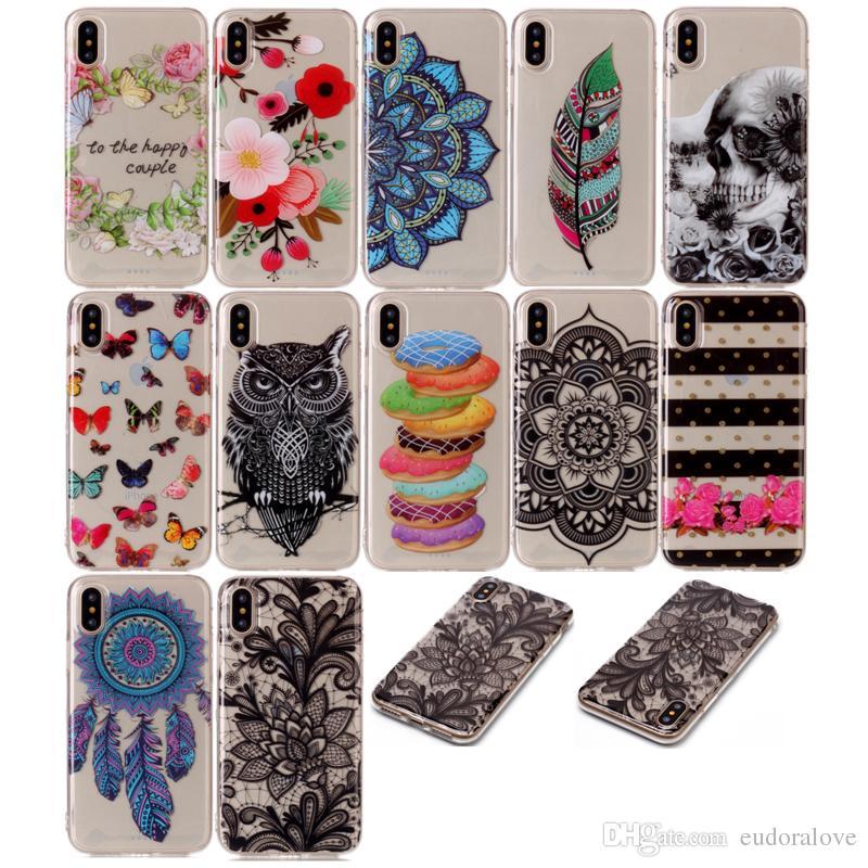 hullen kaufen nette phone cases fur iphone x case klare tpu cartoon eule floral schmetterling dunne silikon abdeckung fur iphonex ultradunne crstyal fallen