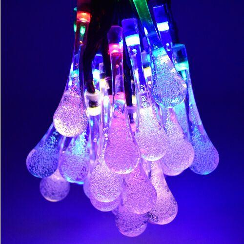 Garden & Patio 30 LED Water Drop Solar Party Fairy Outdoor String Lights for Patio & Garden Garden Lighting Equipment