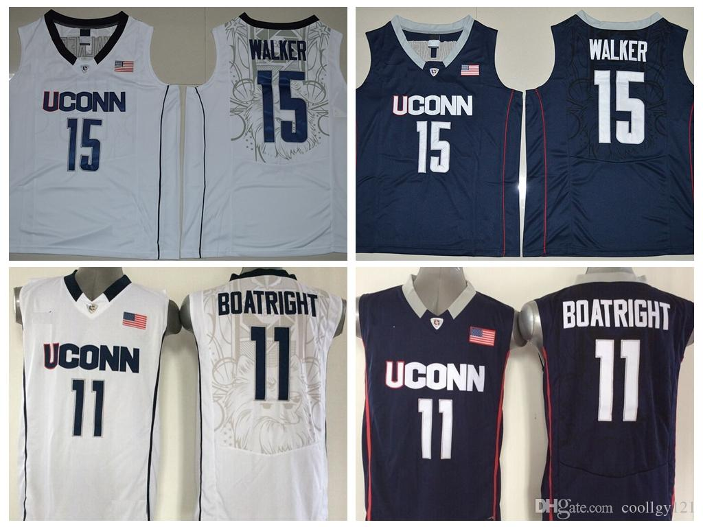 f06e245fb1c2 ... 2017 2017 Uconn Huskies College Basketball Jerseys 15 Kemba Walker  Jerseys 11 Ryan Boatright Shirts University ...