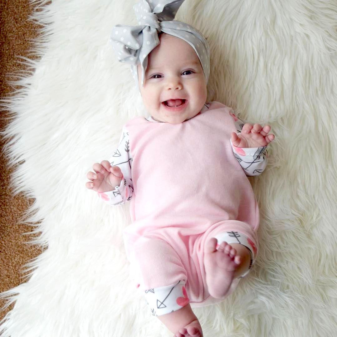 Großhandel Ins Neugeborene Baby Mädchen Langarm Baumwolle Strampler