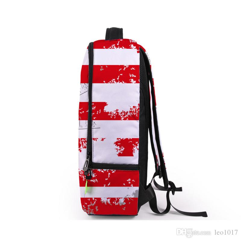 American Flag Graphic Printed Hiphop Bags Unisex Lap Top Backpacks Outdoor Travel Bags BB029BL