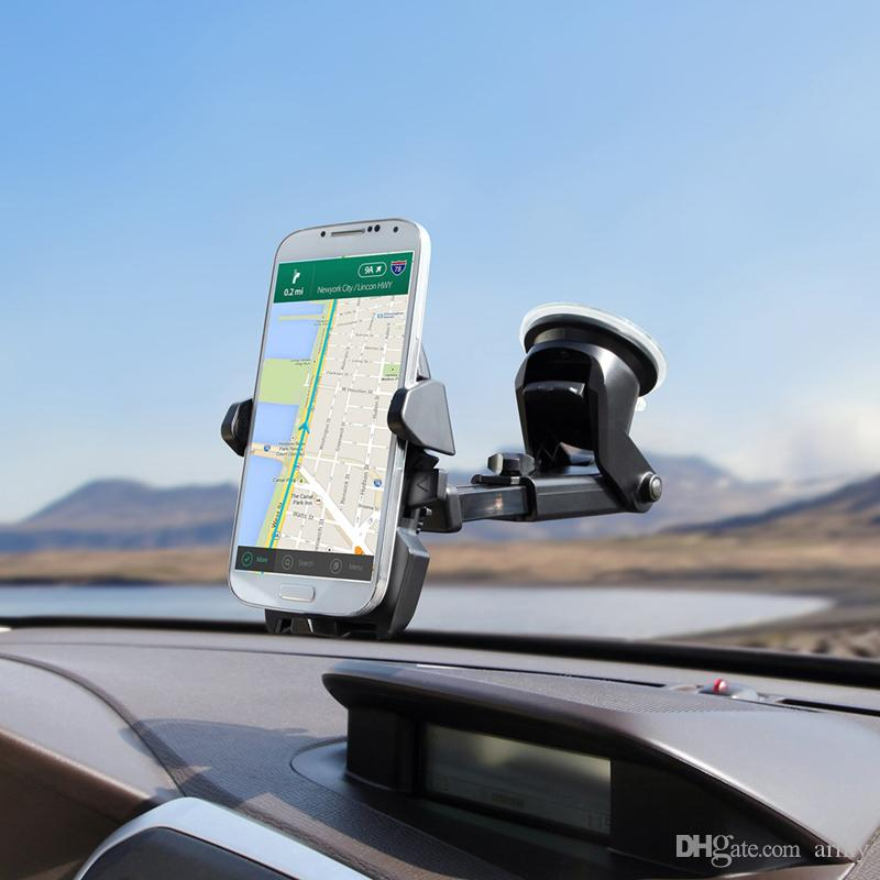 Universal Mobile Car Phone Holder 360 Degree Adjustable Window Windshield Dashboard Holder Stand For All Cellphone GPS Holders