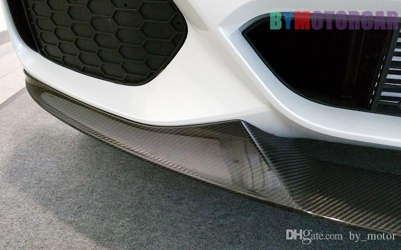 Car surrounded Real Carbon Fiber P Style Front Lip Spoiler F15 X5M Fit For BMW B173
