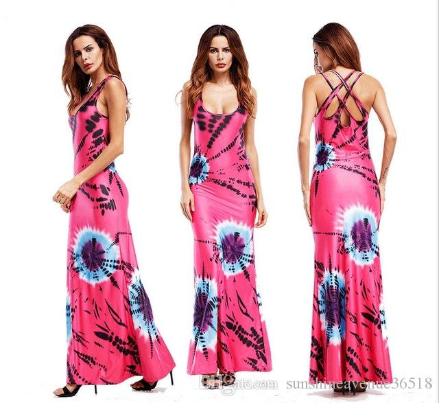 8fd04f766f9 Women Casual African Dresses Robe Elegant Long Loose Printed Short Sleeve  Summer Vintage Red Dress Plus Size Clothing Dress Designers Plus Size Maxi  Dress ...