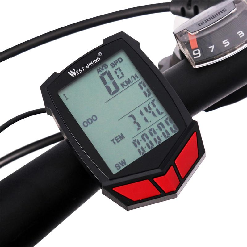 2018 Wireless/Wired Bike Computer 20 Functions Speedometer Odometer ...