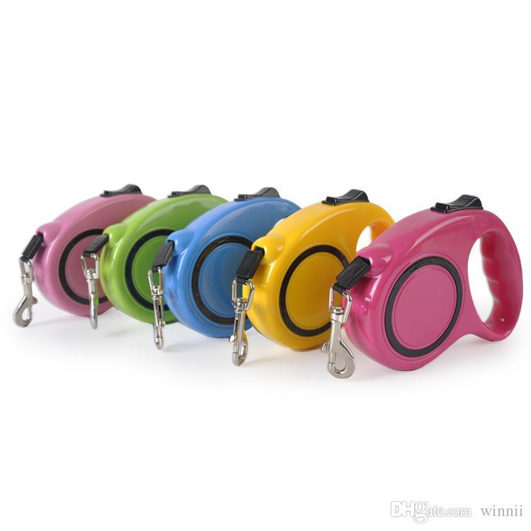 Pet Retractable Dog Leash Flexible Leash Puppy Dog Cat Auto Lead 3m Long Rope dog collar and leash set
