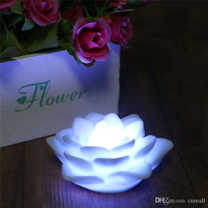 Changing Led Lotus Flower Romantic Love Mood Lamp Night Light Seven