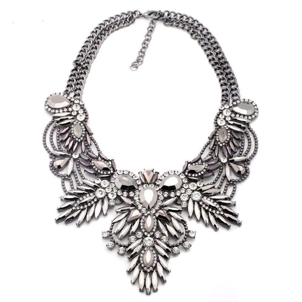 e565d09e5075 Compre es De Buena Calidad Nuevo Estilo De Moda Vintage Unique Colgante De  Collar De Collar Fornido Joyería De Declaración Para Mujeres Collar A  18.5  Del ...