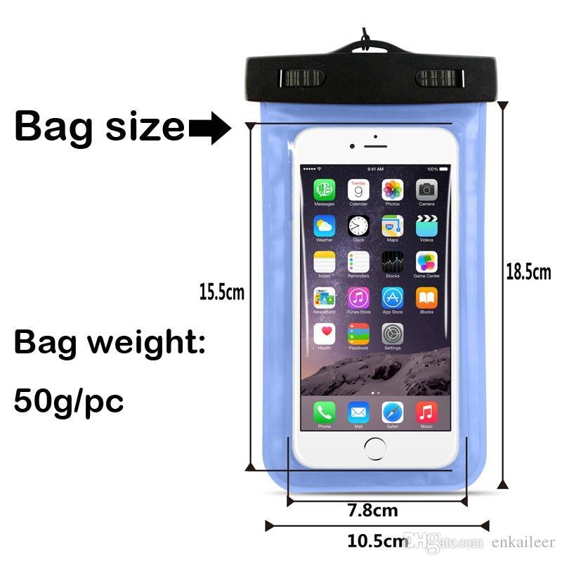 Camuflagem À Prova D 'Água Saco À Prova de Água saco de braçadeira bolsa Capa Para Universal à prova de água casos todos iphone 7 Celular saco DHL frete grátis