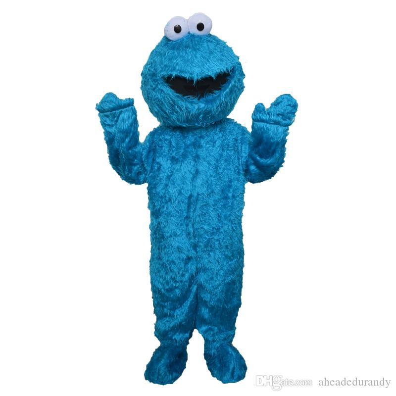 High quality COOKIE MONSTER mascot COOKIE MONSTER mascot costume Elmo mascot