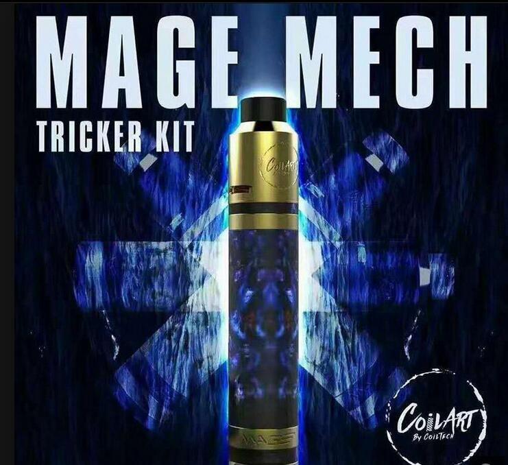 Высокое качество клон CoilArt маг мех Tricker комплект воздушный поток танк 18650 механический мод 24 к позолоченный палуба катушки искусства комплект