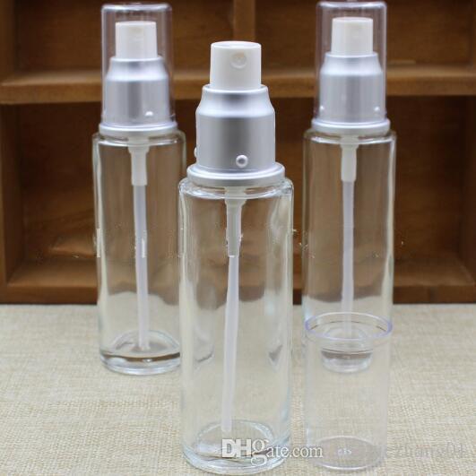 Atomizzatore di profumo di vetro trasparente Vuoto Piccola bottiglia di spruzzo 50ml 30ml di rugiada pura Idratante contenitore d'acqua