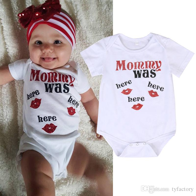 8fccadfd7a4daa 2019 2017 Cute Newborn Baby Clothes Kids Clothing Girls Boys Cotton  Bodysuit Kisses Romper Jumpsuit Outfits 0 24M From Tyfactory